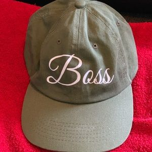 Other - Army green boss dad hat.